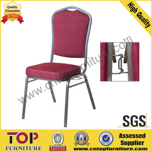 Hotel Meeting Room Steel Stacking Banquet Chair with Connecting Buckle pictures & photos