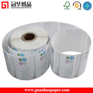 Paper Material and Waterproof Feature Thermal Paper Adhesive Label pictures & photos