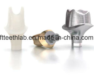 Full Ceramic Custom Abutment Used for Dental Implants Cases pictures & photos
