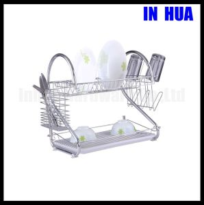 2 Shape Chrome Plated Kitchen Display Rack