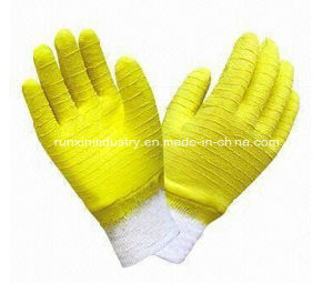 Interlock Latex Coated Gloves L1703 pictures & photos