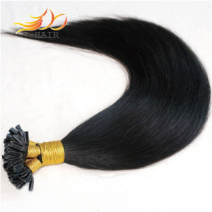 U-Tip Color 1b Human Hair Extension Brazilian Remy Hair pictures & photos