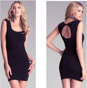 Sexy Women Clothing Backless Black Ladies Office Dress pictures & photos