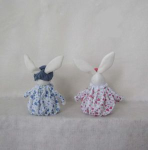 """16""""Hx5""""L Easter Decoration Boy and Girl Bunny Sitter-2 Asst pictures & photos"""