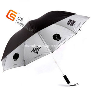 Sliver Coated/Printing Advertising/Promotional Stick Umbrella (YS-1016A)