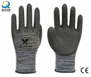 13G Polyester Liner Latex 3/4 Coated Work Gloves pictures & photos