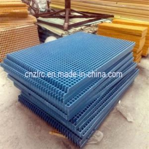FRP GRP Fiberglass Grating Moulded Grating Mesh pictures & photos
