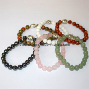 Natural Crystal Gemstone Buddha Bracelet Charming Gemstone Jewelry pictures & photos