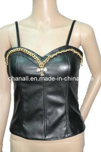 Lady Fashion PU Vest (CHNL-PUVT001)