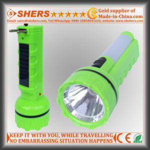 Solar 1W LED Flashlight with Desk Light for Hunting (SH-1937) pictures & photos