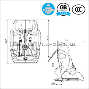 HDPE Frame Baby Safety Car Seat with ECE8 Certification - Free Sample pictures & photos