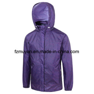 Breathable Waterproof Hooded Raincoat Jacket pictures & photos