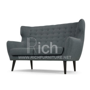 Fabric Sofa Lving Room Leisure Sofa with Wing Back (2seater) pictures & photos