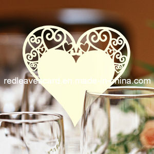 Red Leaves Laser Cutting Wedding Place Card Ivory (Color Can Be Customized)