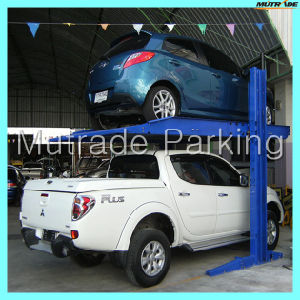 Two Column 2 Floor Simple 2 Car Stacker Car Parking Lift pictures & photos