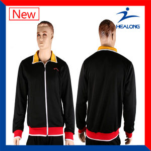 Healong Stylish Cut and Sew with Embroidery Outdoor Jacket pictures & photos