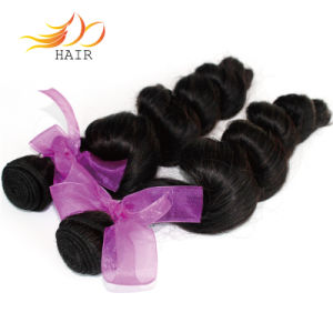 Natural Black 1b Brazilian Virgin Hair Loose Wave Remy Hair Weave pictures & photos