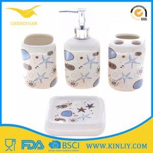 China Ceramic Bathroom Accessory Bath Set Soap Dishes 4PCS pictures & photos