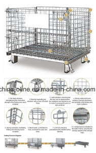 Folded Steel Wire Mesh Container (1000*800*840) pictures & photos