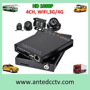 4 Cameras Auto DVR Video Recorder for Car CCTV Surveillance pictures & photos