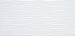 White FRP Tile Look 3D Waterproof Wall Panel