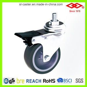 Swivel Screw with Brake Caster (L110-34B050X20AIS) pictures & photos