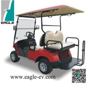 Four Seat Golf Carts, 4 Seat with Flip Seat Kit, Plastic Body, Steel Frame, 48V 5kw AC System, Rhd pictures & photos