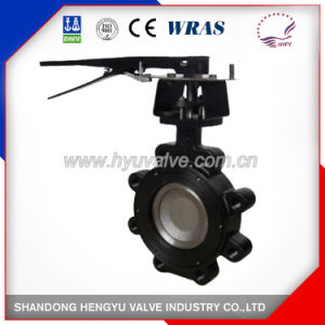 Carbon Steel Double Eccentric Butterfly Valve with Handlever pictures & photos