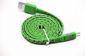Flat USB Cable to Micro with Panda Glowing Cable