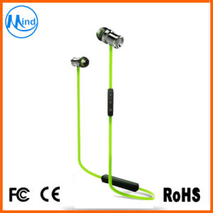 Noise Cancellation CSR Chip Stereo Bluetooth Metal in-Ear Earphones with Magnet pictures & photos