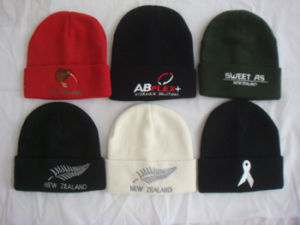 Embroidery Winter Warm Knitted Beanie Acrylic Hat pictures & photos