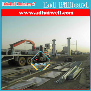 Outdoor Advertisement LED Screen Billboard Constructure in Sudan pictures & photos