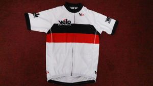 Custom Made Overlock Stitches Cycling Jersey in Sublimation Printing