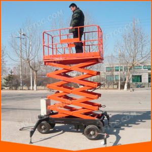 Ce ISO China Hydraulic Electric Small Mini Scissor Lift Platform pictures & photos