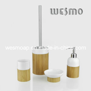 Bamboo and Porcelain Bath Accessory (WBC0612A) pictures & photos