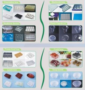 Disposable Plastic Tray Plate Vacuum Thermoforming Machine pictures & photos
