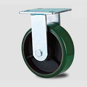 H20 Heavy Duty Fixed Type Double Ball Green PU on Iron-Core Caster pictures & photos