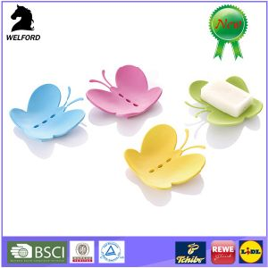 Plastic Creative Butterfly Shape Soap Container Soap Holder pictures & photos