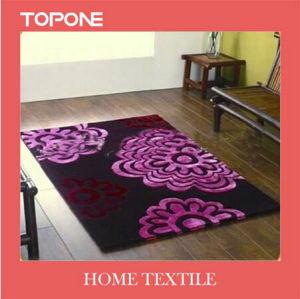 Fashion Good Modern Design Flower Cotton Rug (T108) pictures & photos