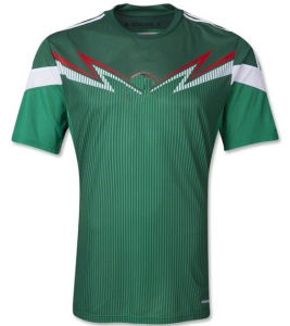 2014 World Cup Mexico Home Green Camisetas De Futbol Short Sleeve Football Shirts and Mexican EL Tri National Team Soccer Jerseys Uniforms Kit
