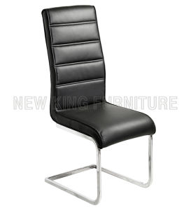 Modern Luxurious Chrome Steel Foot PU Leather Dining Chair (NK-DC086) pictures & photos