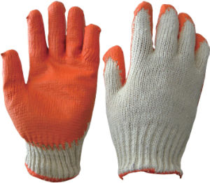 Cotton Gloves with PVC Coating pictures & photos