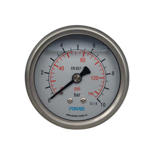 63mm Double Scale Pressure Gauge En837-1 with Silicone Oil pictures & photos