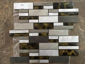 Golden Select Glass and Aluminium Mosaic Wall Tiles Decorative Colored Glass pictures & photos