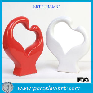 Modern Ceramic Red and White Couples Swan Wedding Gift pictures & photos