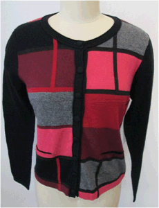 Vis30cttn18ny10wool5cashmere Ladies Sweater (G9664)