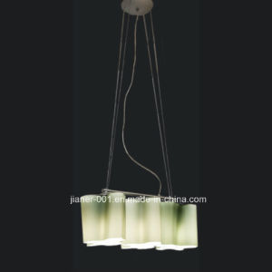 Modern restaurant Hanging Pendant Lamp Light in Natural Green 3mm Thick Glass, 3-Lights pictures & photos