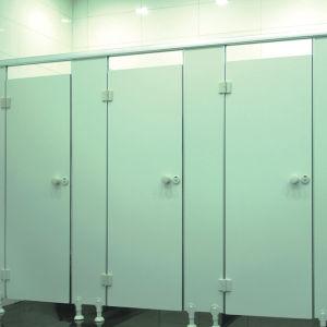 Plastic White Bathroom Toilet Partition (KTW08-009)
