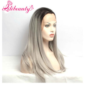 High Quality Long Straight Synthetic Hair Lace Front Wig pictures & photos