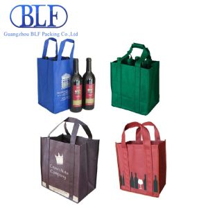 Strong Long Handle Non Woven Wine Gift Bag (BLF-NW023) pictures & photos